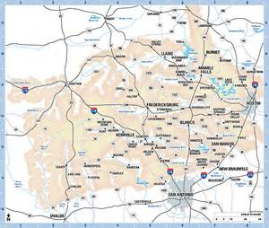 Texas Hill Country Map Cities