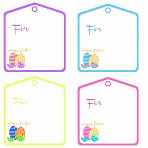 5 best images of printable easter labels free printable With easter name tags template