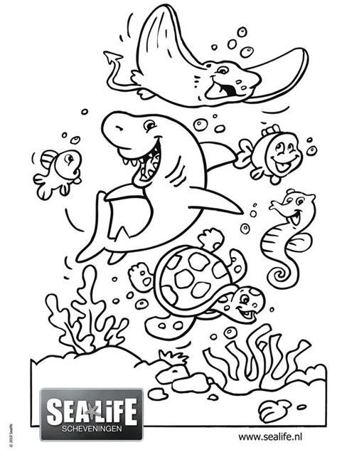 Onderwaterdieren Kleurplaten by Onderwaterwereld Kleurplaat Zoeken Thema