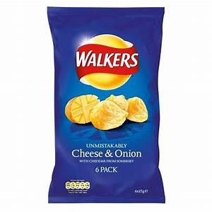 Walkers Crisps - Cheese & Onion (6x25g) | eBay