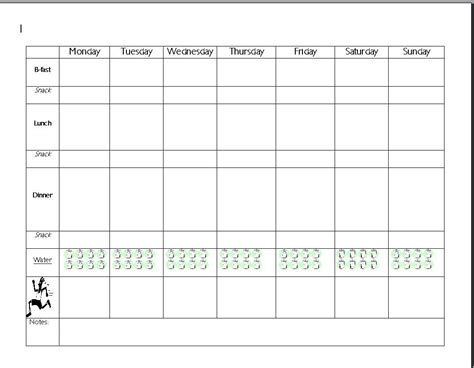 Diet Calendar Template by Great 7 Day Meal Planner Template Save As A Word Doc To