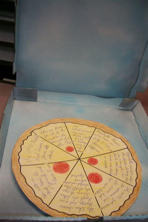 pizza box book report classroom