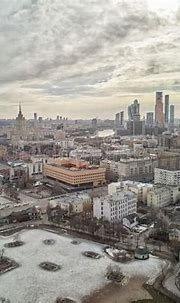 Moscow Zoo From Drone. High Aerial View. Winter View Stock ...