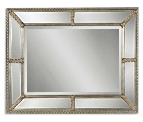 Uttermost Oralist Mirror by Uttermost B Antiqued Silver Leaf Lucinda Mirror With