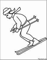 Clip Skier Clipart Abcteach Clipground sketch template