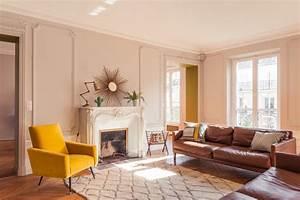 grand appartement haussmannien 180m2 retro salon With tapis de sol avec rénover un canapé en cuir griffé