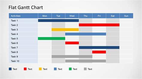 simple gantt chart powerpoint template slidemodel