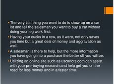 Your check list for the car buying process