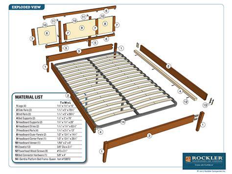 rockler  semble platform bed project plan modern