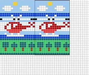 Little red helicopter chart Knitting pattern by Sandra Jäger
