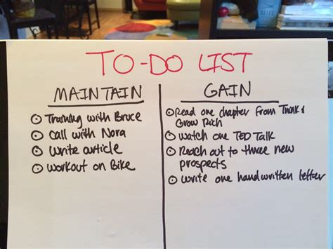 How To Make A To Do List