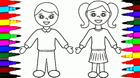 coloring picture   boy   school fun coloring pages