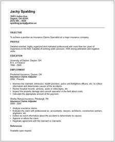 resume objective exles for insurance adjuster insurance claims adjuster resume exle free templates collection