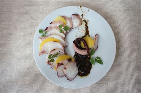 cuisine poulpe carpaccio de poulpe et mangue 224 la cr 232 me de nori japon infos