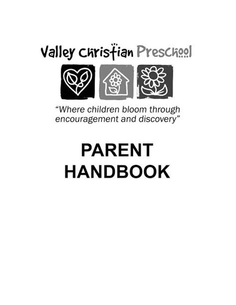 Valley Christian Preschool: Parent Handbook