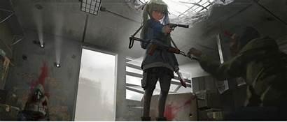 Kill Blood Sonya Hair Knife Anime Gun
