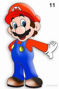 How To Draw Mario (Step by Step Pictures) | Cool2bKids