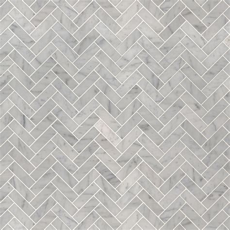 carrara white  herringbone polished backsplash tile