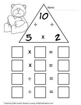 multiplication division fact family number 5 by callie