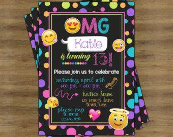 invitacion de fiesta de cumpleanos de emoji  por