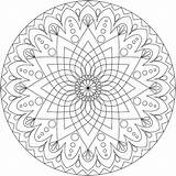 Mandala Coloring Pages Simple Print Detailed Therapy sketch template