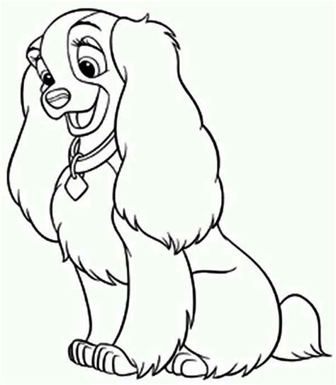 disney lady  dog coloring page  printable coloring coloring book pages