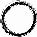 Circle Scribble Clipart Transparent Distressed Drawing Line