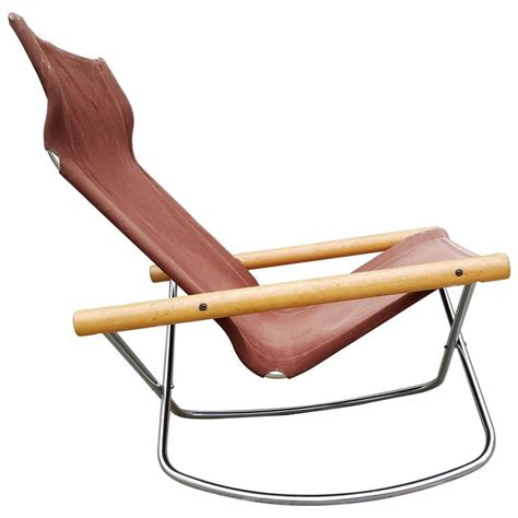 folding sling seat rocking lounge chair by takeshi nii at