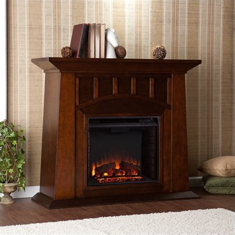 Southern Enterprises Lowery Electric Fireplace In Espresso