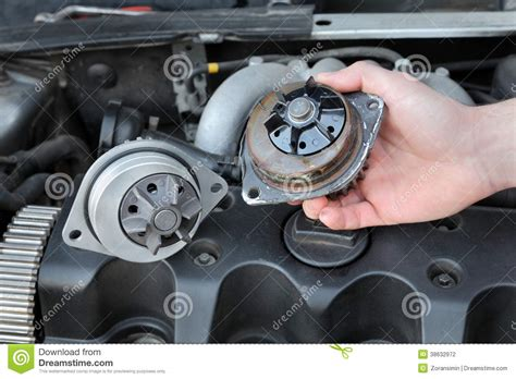 automotive water pump stock photo image  machine