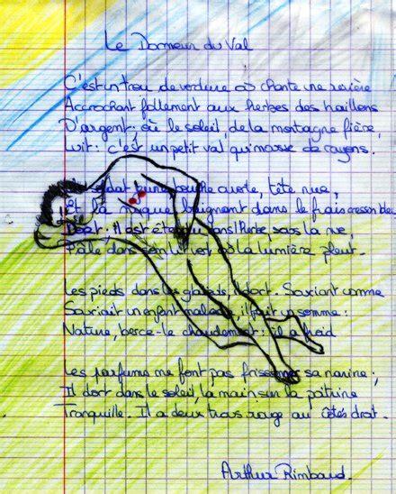 Dessin Le Dormeur Du Val by Rablog 187 Archives Du 187 Le Dormeur Du Val