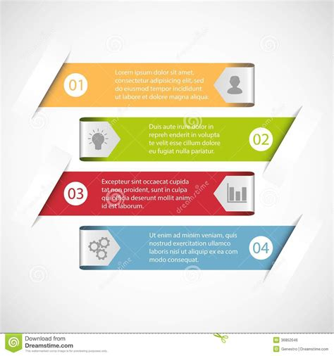 simple infographic template stock vector image 36852046
