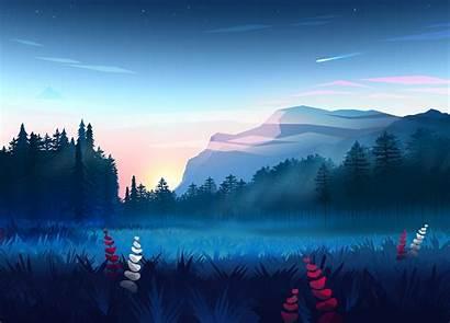 Minimalist Digital Mountains Wallpapers 4k Backgrounds Deviantart