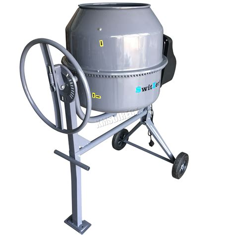 cement mixer switzer 650w 180l drum portable electric concrete cement mixer mortar plaster 5055418325196 ebay