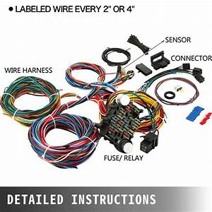 21 Circuit Wiring Harness For Chevy Universal Wires Mopar