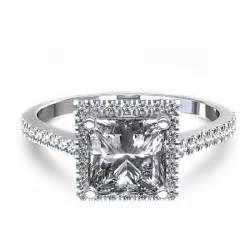 princes cut engagement rings stylish halo princess cut engagement ring in 14k white gold united kingdom