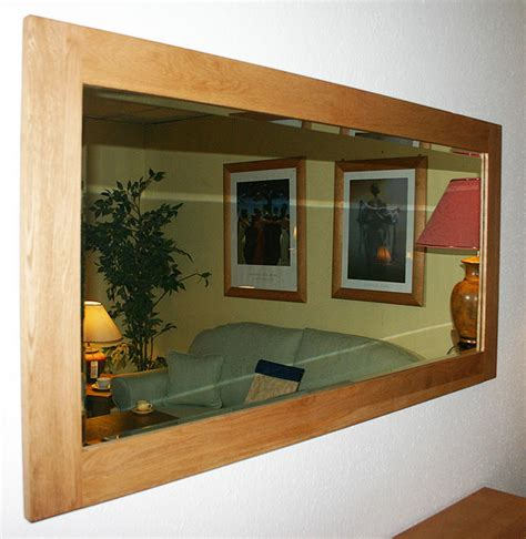 new large solid light oak framed wall mirror 150x75cm ebay