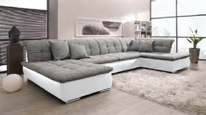 eck sofa wohnlandschaft im format in weiß grau möbel lifestyle discount