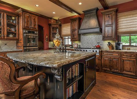 high  dark wood kitchens  designing idea