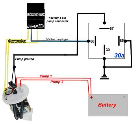 fuel pump rewire relay diagram  dual  tank pumps