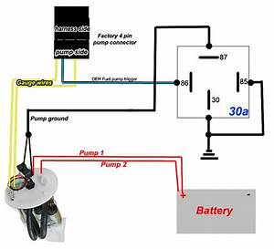 Fuel Pump Rewire Relay Diagram For Dual In Tank Pumps