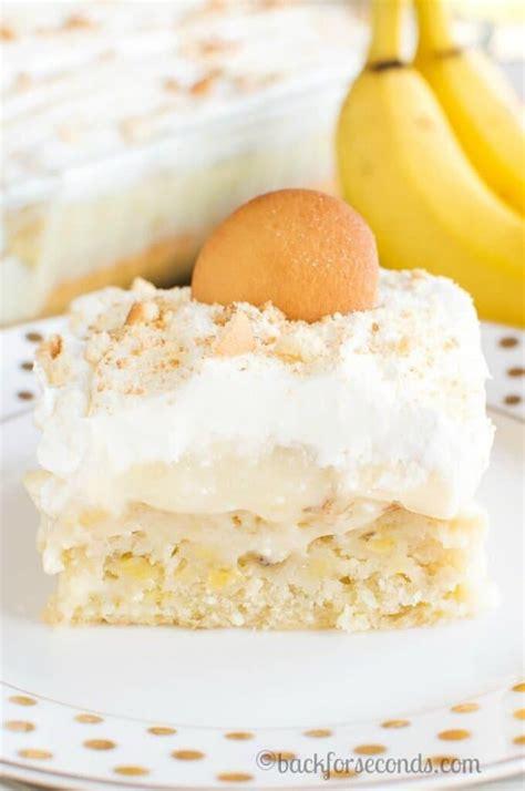 banana cream pie poke cake   blog recipes