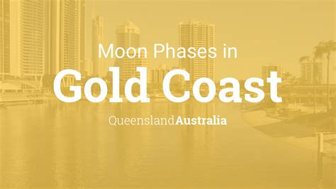 moon phases  lunar calendar  gold coast