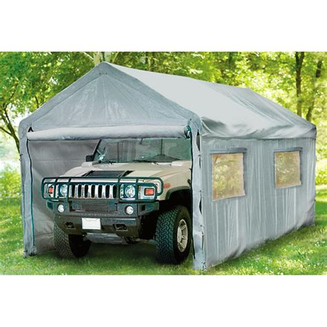 Car Shelter by Mac Sports 174 10x20 Shelter Garage Silver 151418