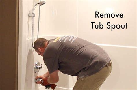 how to remove bathtub faucet how to remove a fiberglass bathtub and surround home
