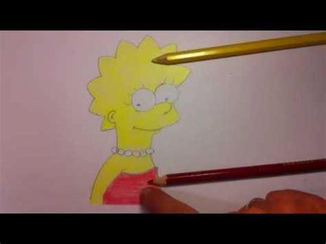 lisa von die simpsons zeichnen simpson figuren malen