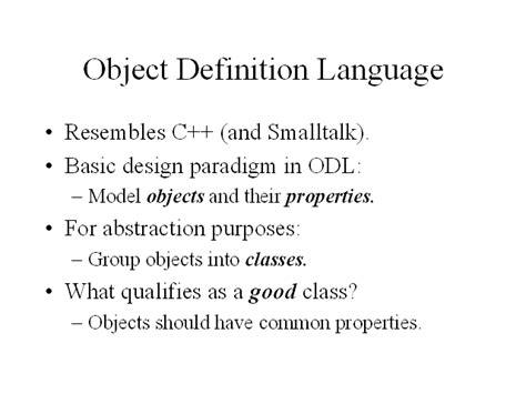 object definition language