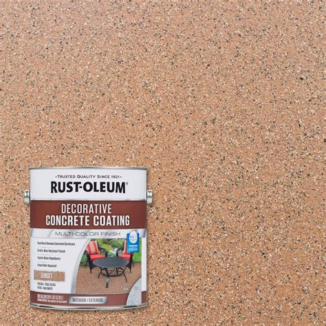 rust oleum decorative concrete coating rust oleum 1 gal sunset decorative concrete coating