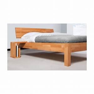 Lit Bois Massif Design : lit teint nature zen en bois massif ~ Teatrodelosmanantiales.com Idées de Décoration