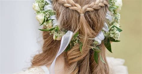 Braid Half-up Half-down Hairstyle With Roses And Babay's